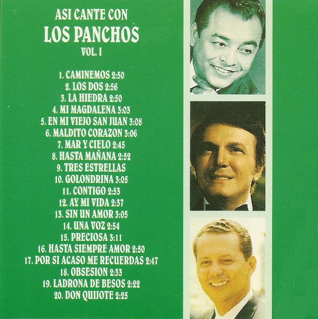 Resultado de imagen para Los Panchos - Asi Canté Con Los Panchos Vol.1