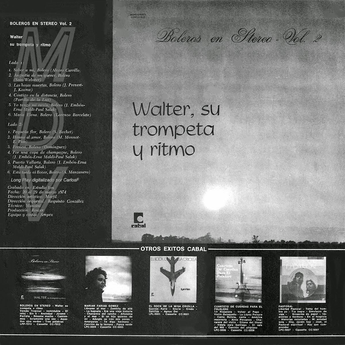 WALTER, SU TROMPETA Y RITMO